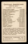 1922 E120 American Caramel  Elmer Cox  Back Thumbnail