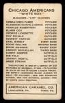 1922 E120 American Caramel #19  Bib Falk  Back Thumbnail