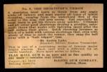 1933 DeLong Gum R333 #9  Billy Urbanski  Back Thumbnail