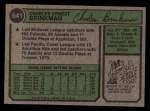 1974 Topps #641  Chuck Brinkman  Back Thumbnail