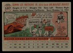 1956 Topps #107 GRY Eddie Mathews  Back Thumbnail