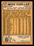 1968 Topps #274  Mike Cuellar  Back Thumbnail