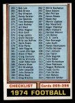 1974 Topps #391   Checklist 265-396 Front Thumbnail