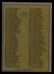 1974 Topps #117   Checklist 1-132 Back Thumbnail