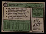 1974 Topps #648  Terry Crowley  Back Thumbnail