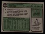 1974 Topps #568  Mike Torrez  Back Thumbnail
