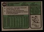 1974 Topps #595  Steve Blass  Back Thumbnail