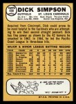 1968 Topps #459  Dick Simpson  Back Thumbnail
