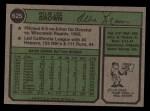 1974 Topps #625  Ollie Brown  Back Thumbnail
