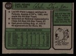 1974 Topps #627  Carl Taylor  Back Thumbnail