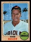 1968 Topps #513  Hank Bauer  Front Thumbnail