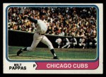 1974 Topps #640  Milt Pappas  Front Thumbnail
