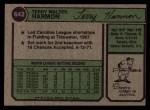 1974 Topps #642  Terry Harmon  Back Thumbnail