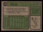 1974 Topps #579  Cecil Upshaw  Back Thumbnail