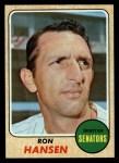 1968 Topps #411  Ron Hansen  Front Thumbnail