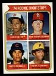 1974 Topps #607   -  Frank Taveras / Leo Foster / Tom Heintzelman / Dave Rosello Rookie Shortstops   Front Thumbnail