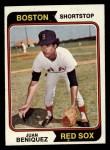 1974 Topps #647  Juan Beniquez  Front Thumbnail