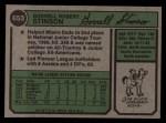 1974 Topps #653  Bob Stinson  Back Thumbnail