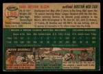 1954 Topps #186  Karl Olson  Back Thumbnail
