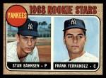 1968 Topps #214   -  Stan Bahnsen / Frank Fernandez Yankees Rookies Front Thumbnail
