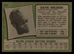 1971 Topps #241  Dave Nelson  Back Thumbnail