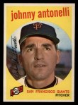 1959 Topps #377  Johnny Antonelli  Front Thumbnail