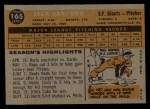 1960 Topps #165  Jack Sanford  Back Thumbnail