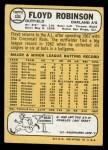 1968 Topps #404  Floyd Robinson  Back Thumbnail
