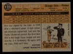 1960 Topps #125   -  Dick Ellsworth Rookie Star Back Thumbnail