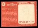 1958 Topps #81  Lou Creekmur  Back Thumbnail