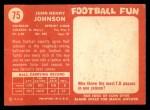 1958 Topps #75  John Henry Johnson  Back Thumbnail