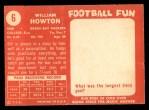1958 Topps #6  Billie Howton  Back Thumbnail