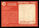 1958 Topps #116   Steelers Team Back Thumbnail