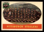 1958 Topps #116   Steelers Team Front Thumbnail