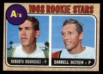 1968 Topps #199   -  Roberto Rodriquez / Darrell Osteen A's Rookies Front Thumbnail