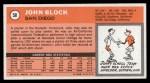 1970 Topps #58  John Block   Back Thumbnail