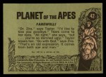 1969 Topps Planet of the Apes #42   Farewell Back Thumbnail