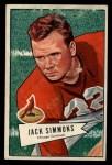 1952 Bowman Large #110  Jack Simmons  Front Thumbnail