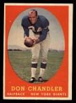 1958 Topps #54  Don Chandler  Front Thumbnail