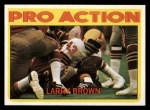 1972 Topps #342   -  Larry Brown     Pro Action Front Thumbnail