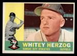 1960 Topps #92  Whitey Herzog  Front Thumbnail