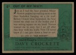 1956 Topps Davy Crockett #4 GRN  Out of My Way  Back Thumbnail