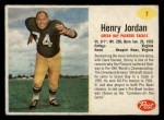 1962 Post #7  Hank Jordan  Front Thumbnail