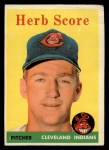 1958 Topps #352  Herb Score  Front Thumbnail