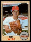 1968 Topps #262  Rick Wise  Front Thumbnail