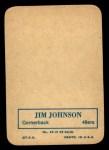 1970 Topps Glossy #19  Jimmy Johnson  Back Thumbnail
