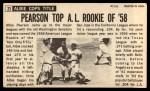 1964 Topps Giants #23  Albie Pearson   Back Thumbnail