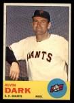 1963 Topps #258  Al Dark  Front Thumbnail