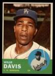 1963 Topps #229  Willie Davis  Front Thumbnail