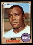 1968 Topps #304  Sandy Valdespino  Front Thumbnail